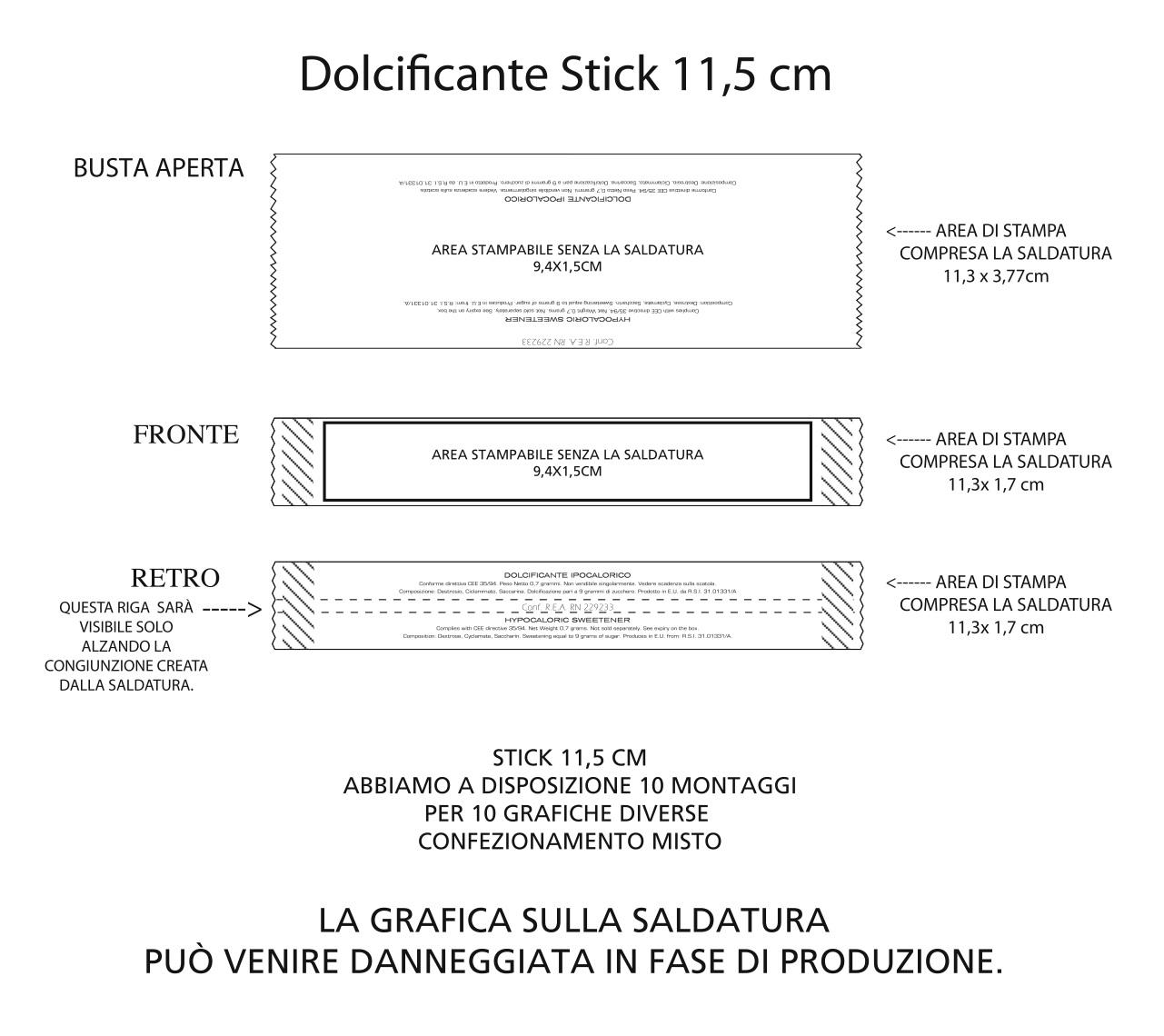 stick 11,5 cm dolcificante