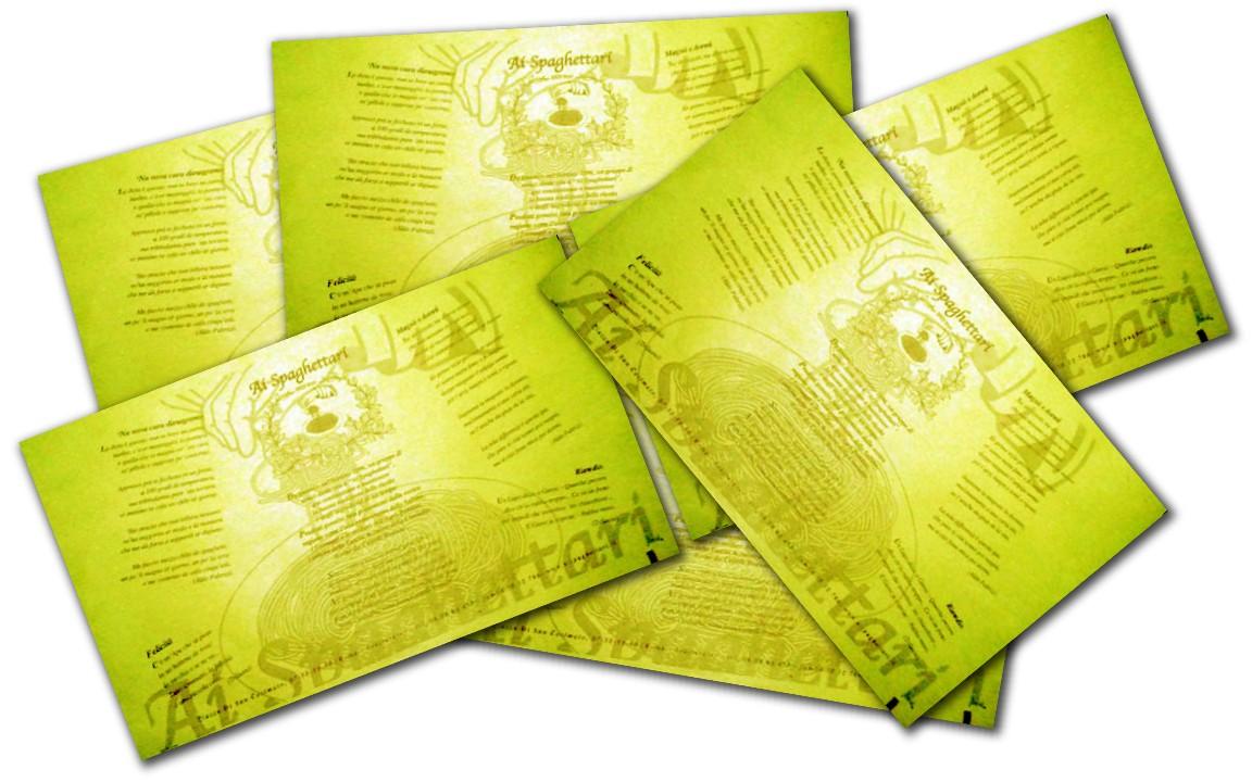 tovaglietta personalizzata carta paglia ai spaghettari tovaglietta carta paglia