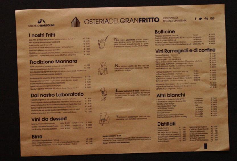 menu nella tovaglietta paglia 35x50
