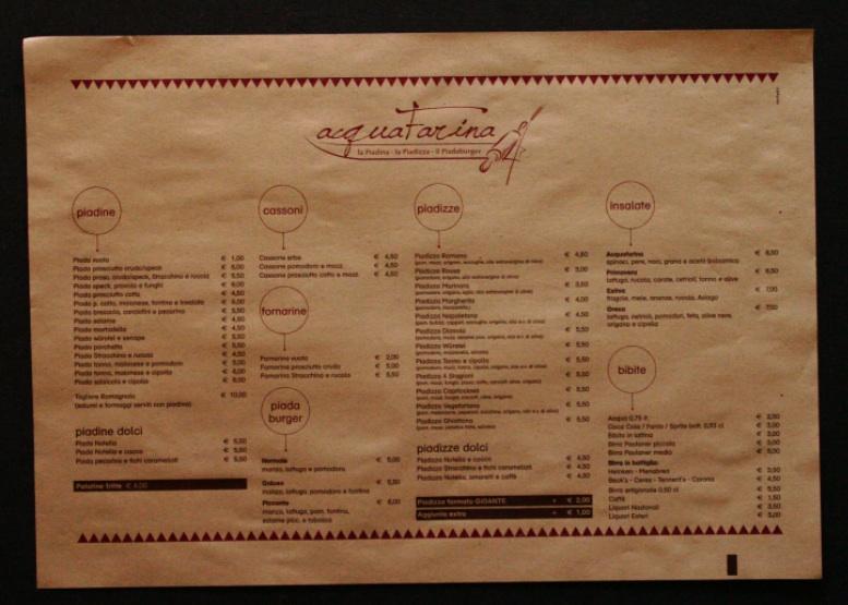 stampare menu sulla tovaglietta paglia 35x50