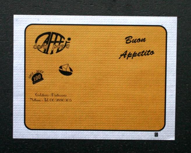 tovaglietta colorata personalizzata caffe della posta tovaglietta bianca 30x40