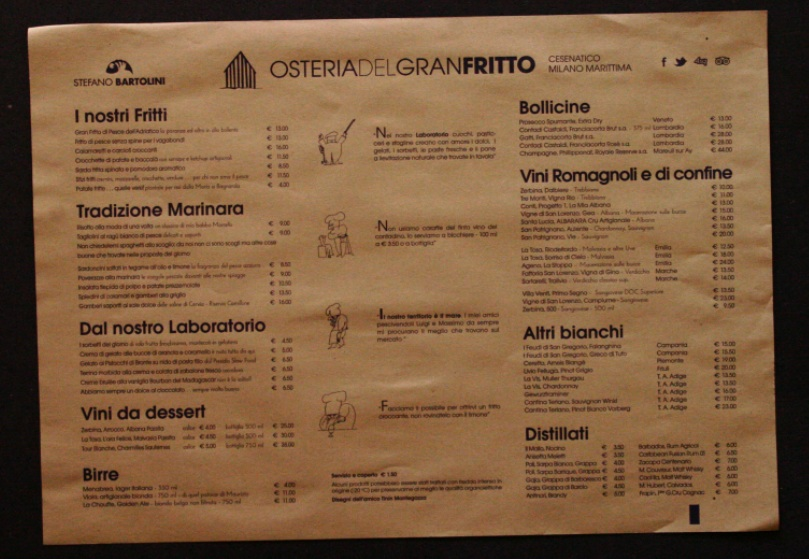 tovaglietta con menu carta paglia 35x50