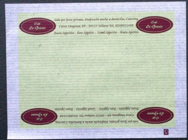 tovaglietta personalizzata in carta per alimenti bianca 30x40