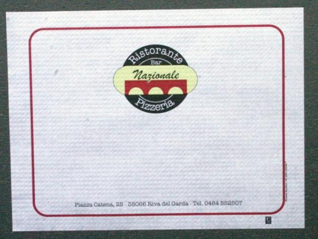 tovagliette per pizzerie personalizzate bianca 30x40