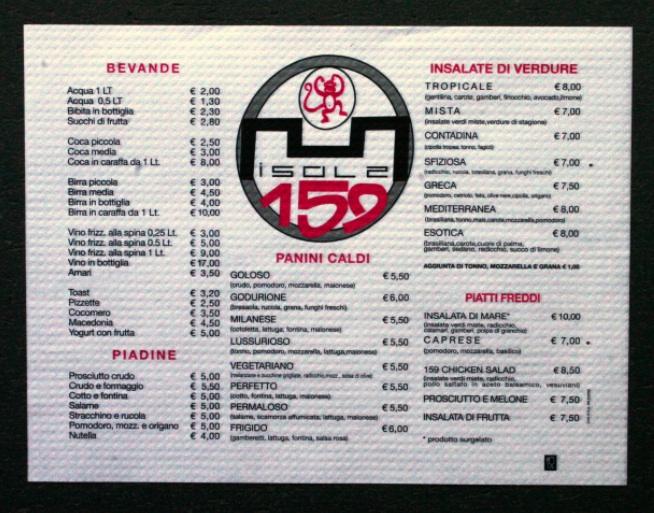 tovagliette personalizzate con menu carta bianca per alimenti 35x40