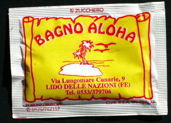 bustine di zucchero con marchio 1