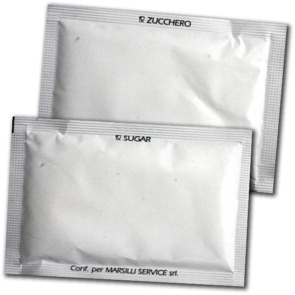 bustine di zucchero senza stampa