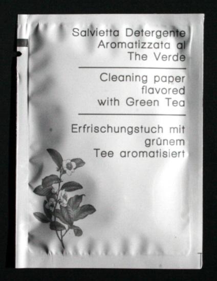 lingettes de thé vert personnalisées 1