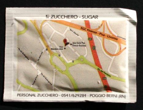 mappa nelle bustine di zucchero 1