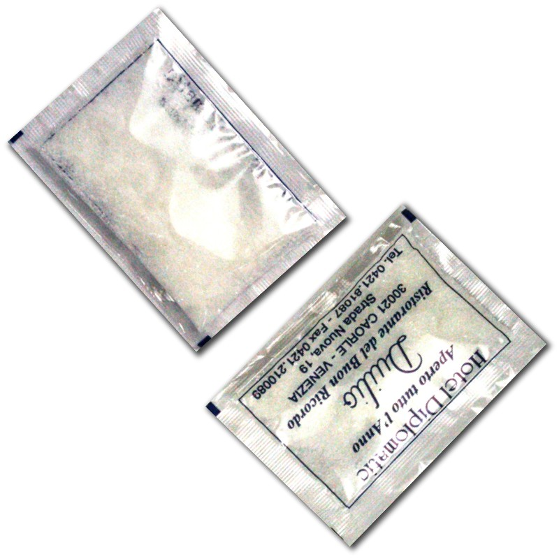 bustine di zucchero trasparenti personalizzate