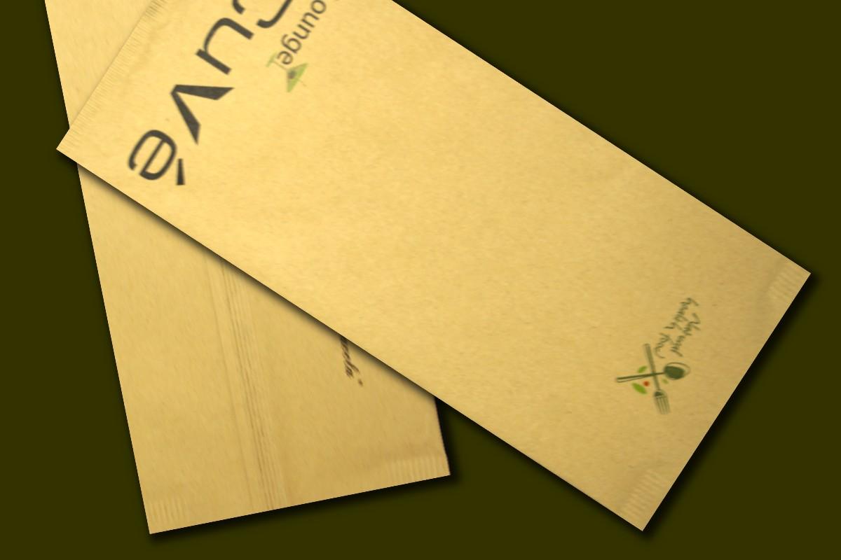 buste in carta con tovagliolo