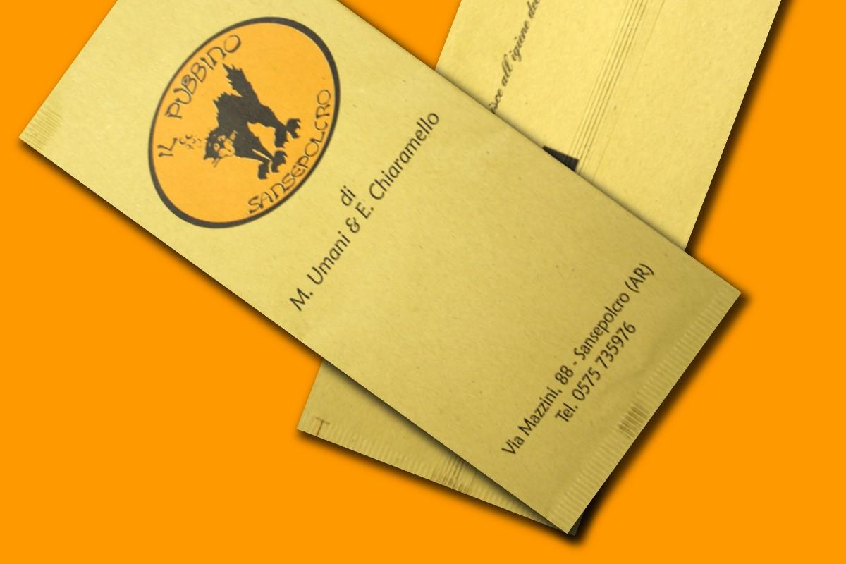 buste in carta paglia personalizzate con tovagliolo