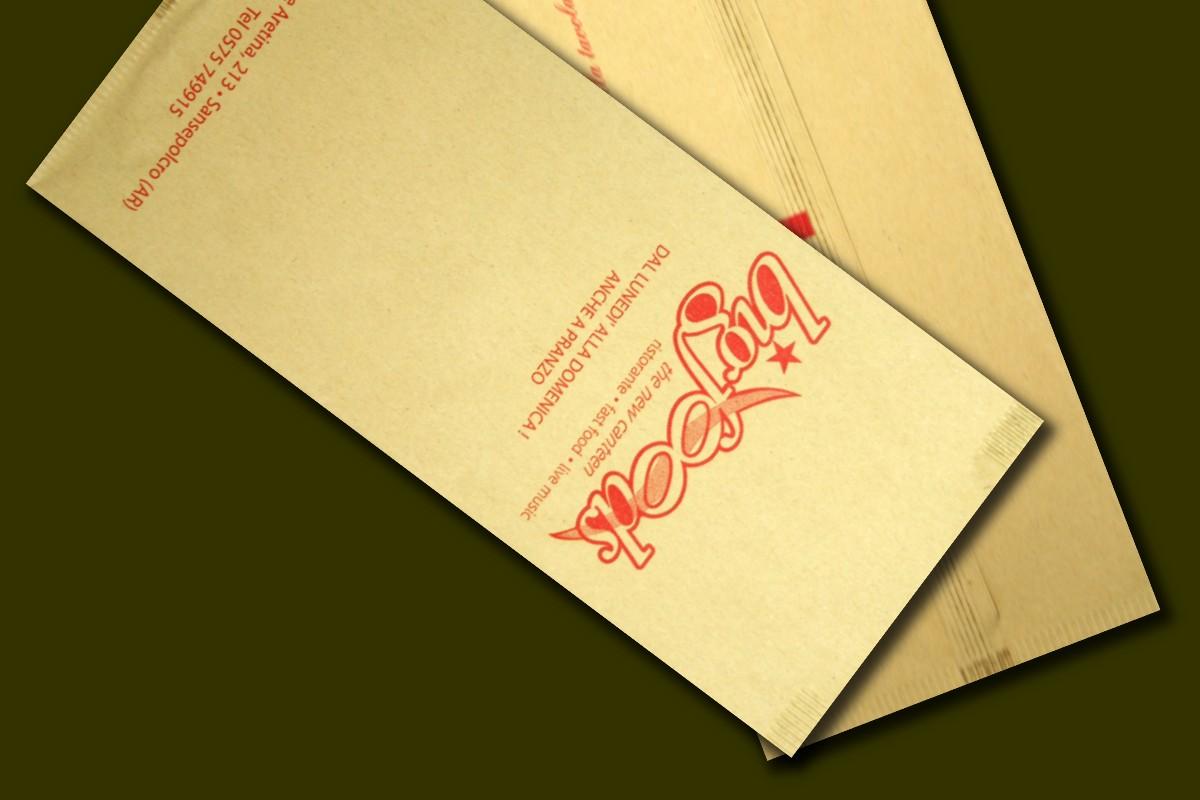 buste porta posate fatte in carta paglia
