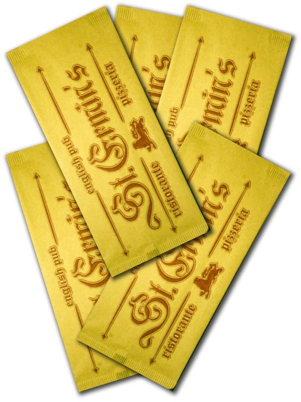 buste porta posate in carta paglia