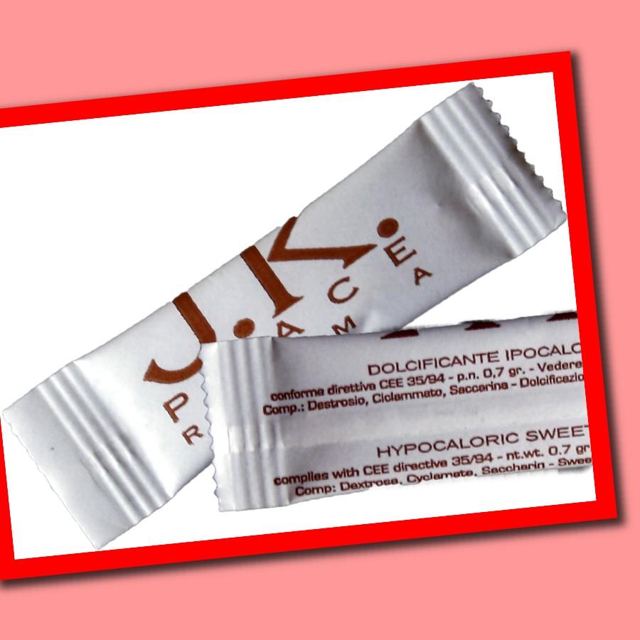 Süßstoff in Sachets mit Logo
