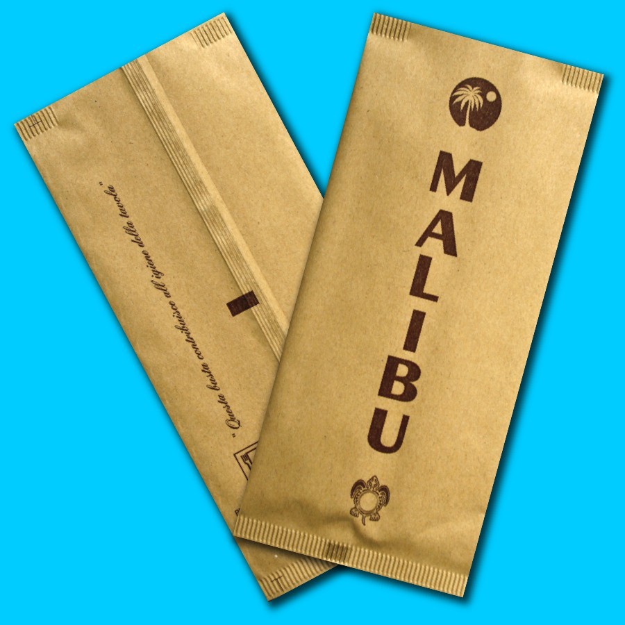 portaposate carta paglia personalizzate