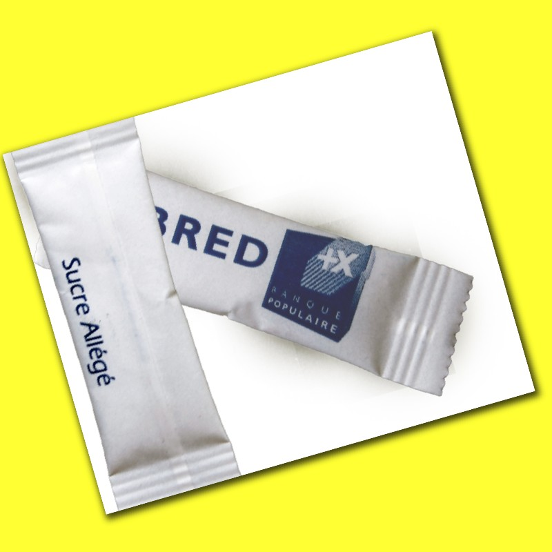 sweetener sachets of private label bar