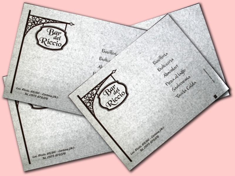 tovagliette in carta per gastronomia