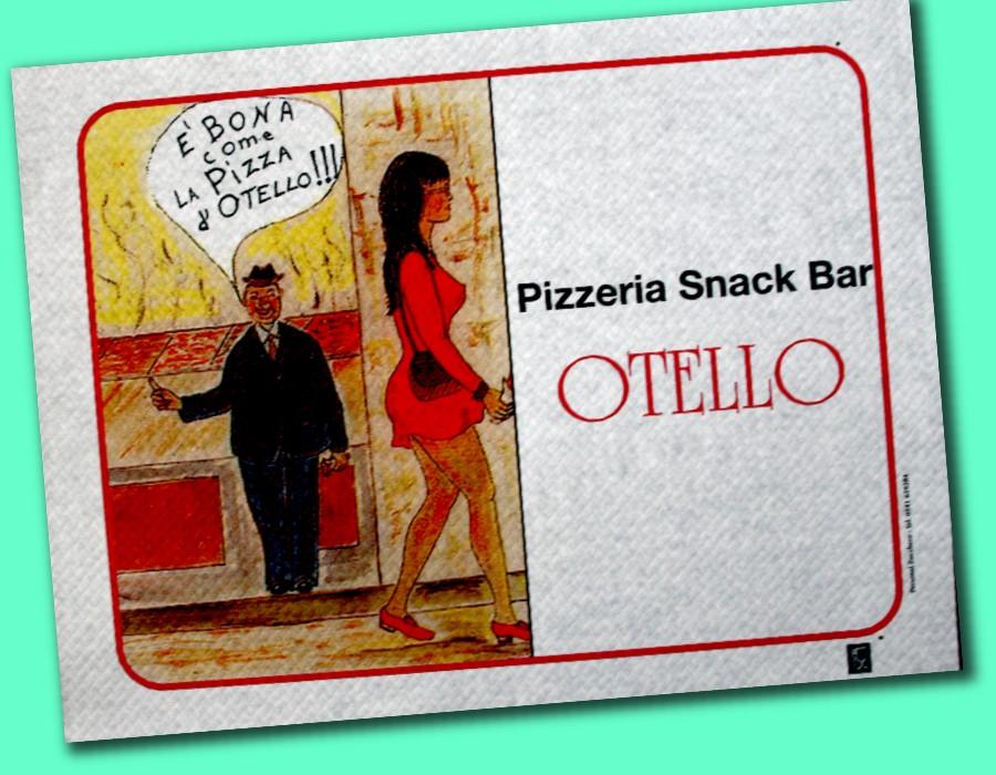 tovaglietta in carta per pizzeria