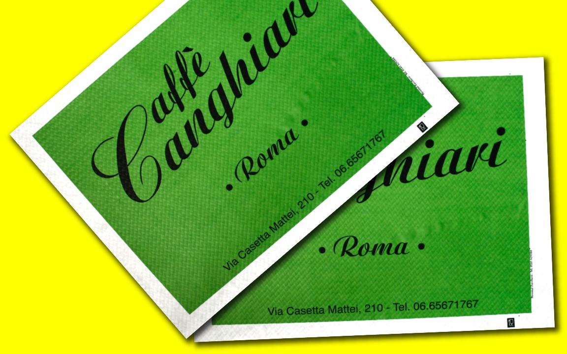 tovaglietta personalizzata per caffetterie