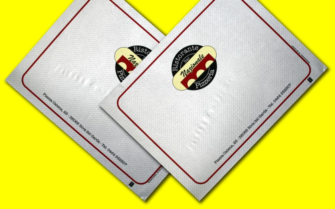 tovaglietta personalizzata per pizzerie
