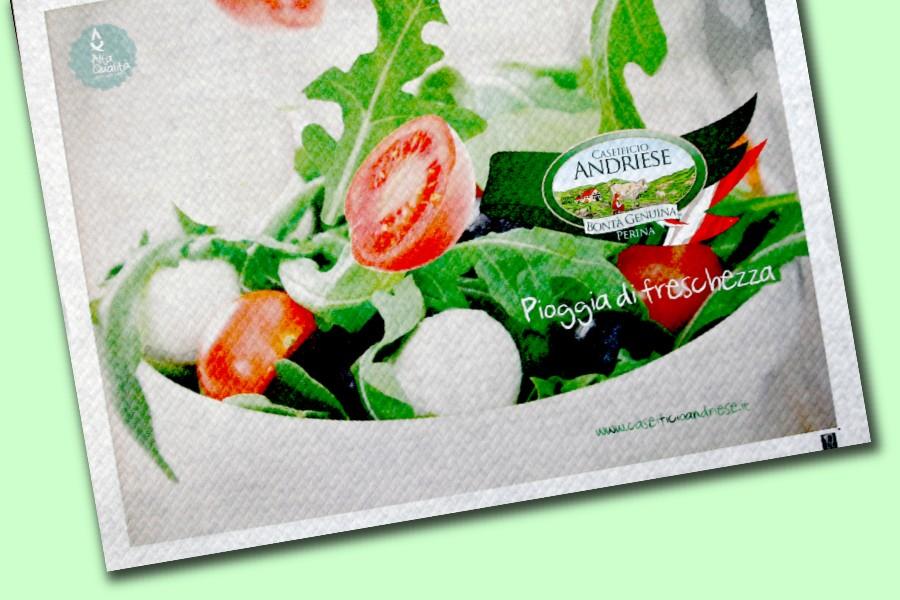 tovagliette con inchiostri per alimenti