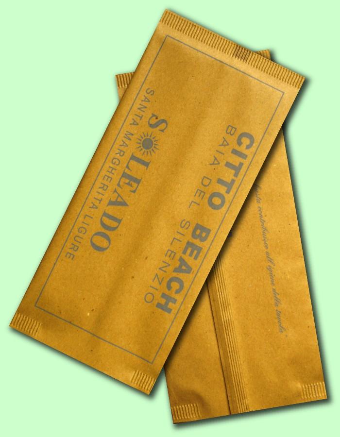 busta in carta paglia monouso portaposate