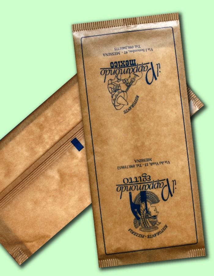 buste portaposate in carta avana monouso
